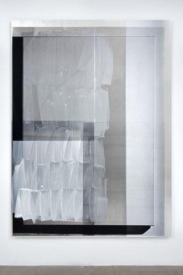 Nathan Hylden. Untitled (2009), acrylic on aluminum, 196.85 x 144.78 cm