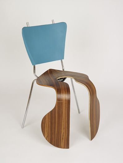 Arne Split 2007 Found wooden and metal chair elements  A fake Arne Jacobsen 3107 chairs mixed with another chair found in a furniture warehouse