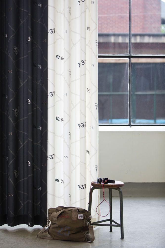NATURALLY BLACK & WHITE   #gordijnen #curtains #Gardinen #Vorhänge