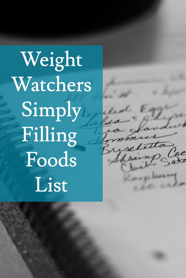 weight watchers simply filling food list pdf