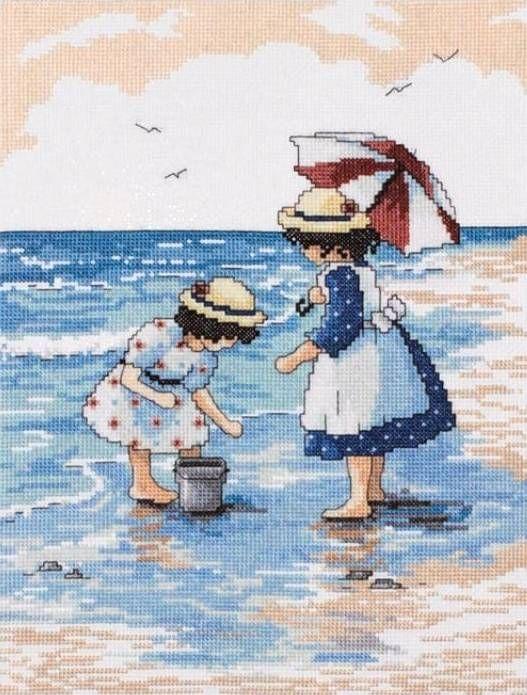 Gathering Shells Cross Stitch Kit - £25.50 on Past Impressions | by Design Works