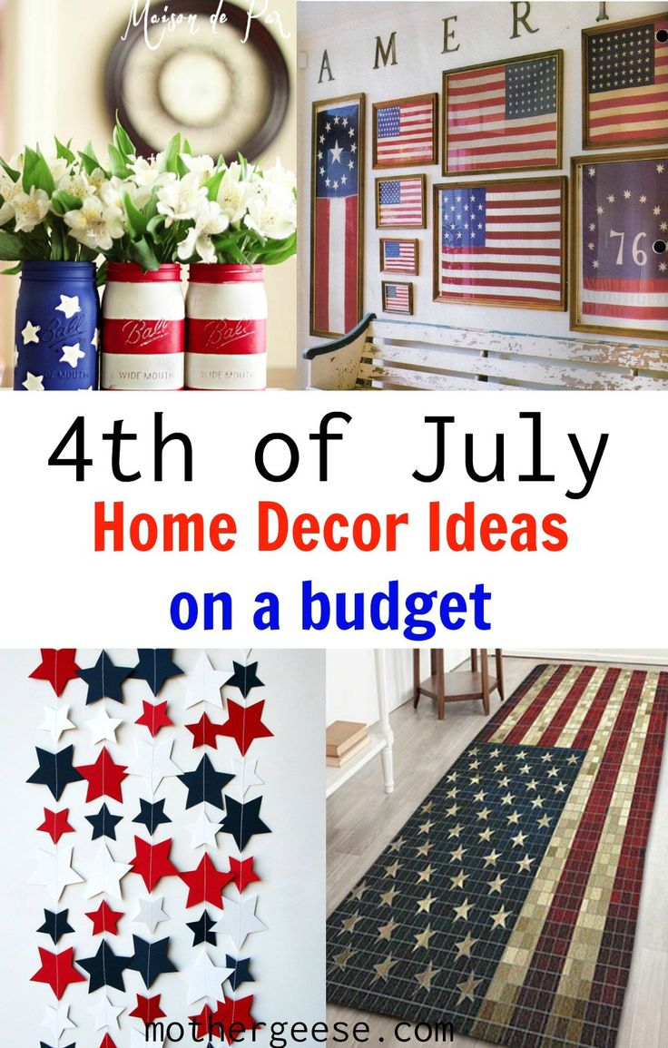 4th of july home decor ideas - Americana Home Decor