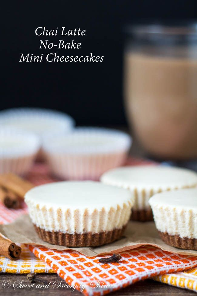 These creamy smooth chai latte no-bake mini cheesecakes are incredibly delicious, especially when topped with glorious caramel sauce.