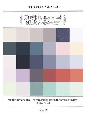 The Color Almanac,  hier is per kleur heel veel combinaties te bekijken
