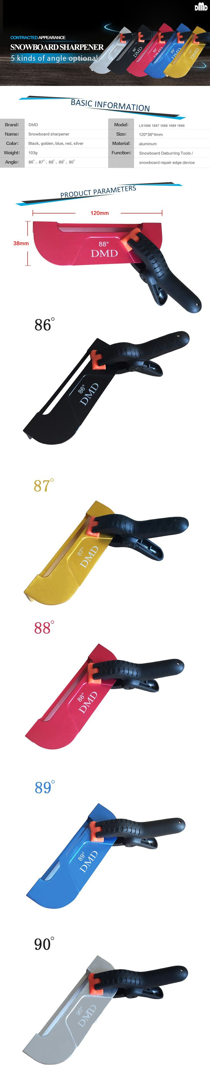 Snowboard 86 87 88 89 90 Side Edge Tuning Tools Skiing Ice Repair Edge Guide Tools without  Whetston