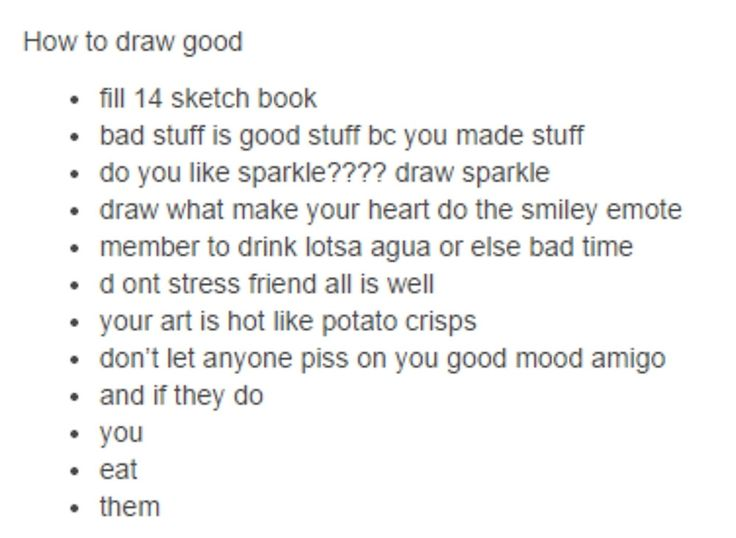 how to draw good - tumblr by lmericson