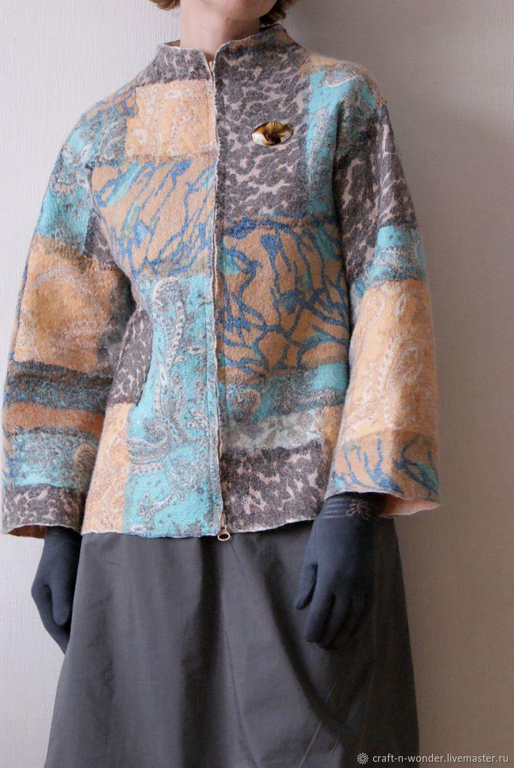 """Пиджаки, жакеты ручной работы. Ярмарка Мастеров - ручная работа. Купить Жакет войлочный """"Ветер Африки"""". Handmade. Коллаж, войлок"""