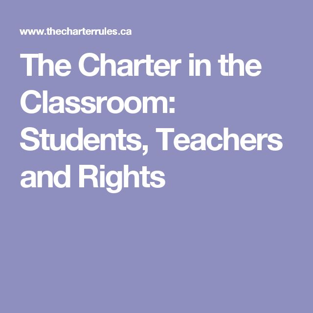 The Charter in the Classroom: Students, Teachers and Rights