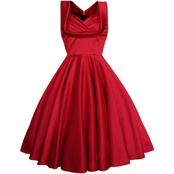 Lady Mayra Elsa Red Christmas Dress Vintage Rockabilly Clothing Pin Up... (78 CAD) ❤ liked on Polyvore featuring dresses, vestidos, red, red dress, grey, women's clothing, plus size party dresses, plus size formal dresses, plus size evening dresses and cocktail prom dress