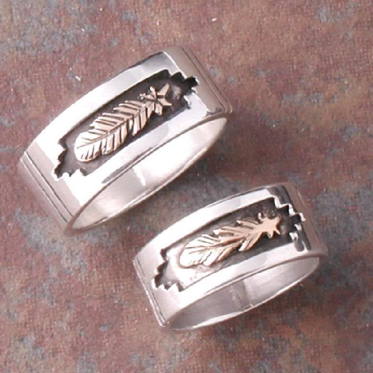 native american wedding rings sets