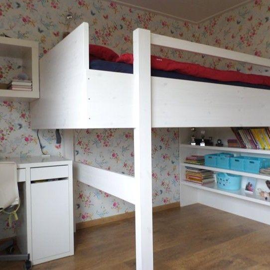 17 beste idee n over kleine tiener slaapkamers op pinterest tiener slaapkamer tiener - Hoogslaper tiener met kantoor en opslag ...