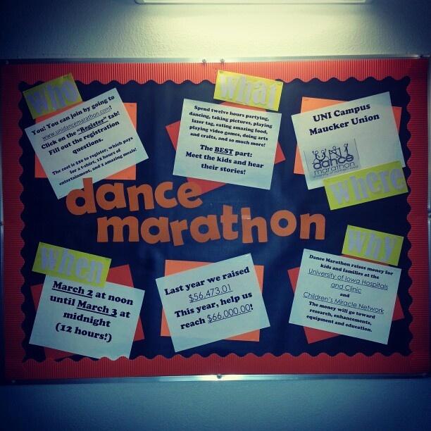"""""""Dance Marathon"""" Bulletin board #residentassistant"""