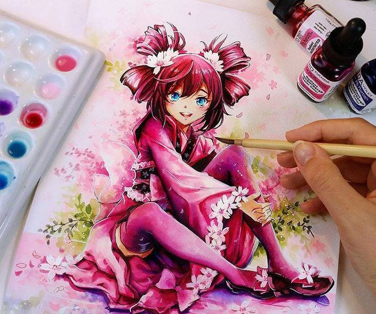 Watercolor Artwork by Naschi naschi.deviantart.com