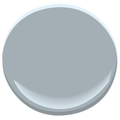Solitude from Benjamin Moore is a great mid-tone gray/blue that has a hint of warmth. Gorgeous bathroom color.