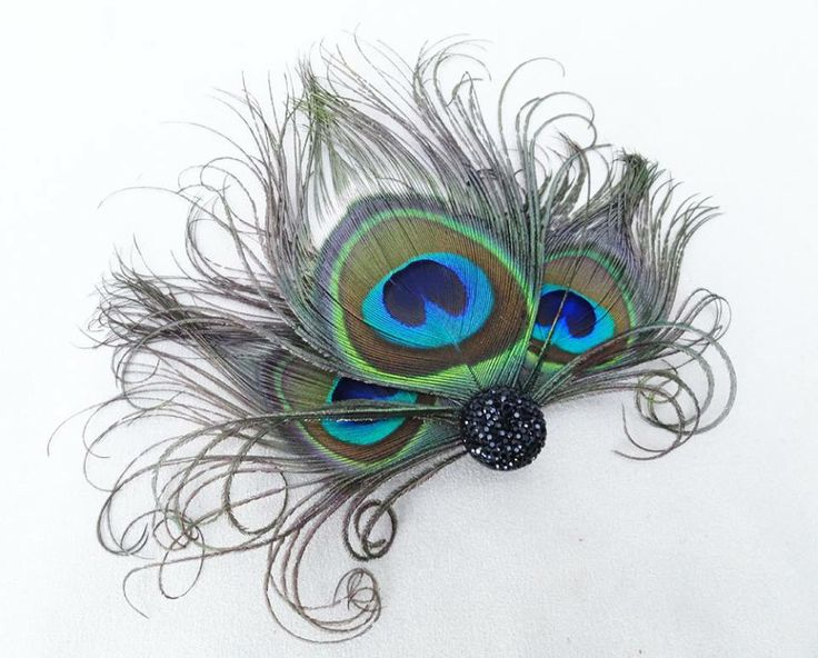 Lovely peacock feather hair accessory to give your hairs, a neat adorable look!!