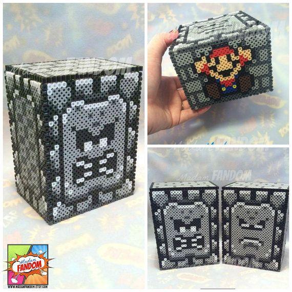 "Super Mario Box with Lid – ""Thwomp"" | Geek Wedding Centerpiece Table Decor | Gamer Wedding | Gift Box for Birthday"