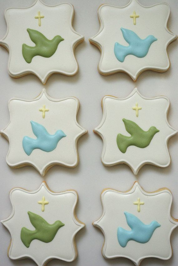 24 Cookies/Baptism Sugar Cookies by iBakery on Etsy, $84.00
