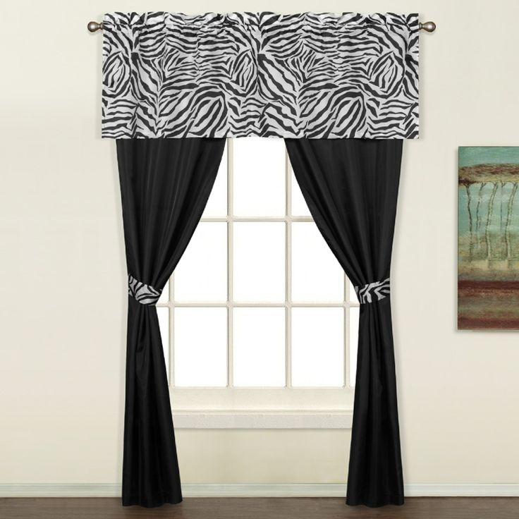 Zebra 5 Piece Decorative Curtain Set By United Curtains