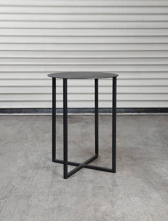 Custom Round Metal Side Table 21 X15 Outdoor Patio Table End