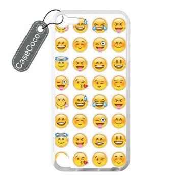 CASECOCO(TM) Emoji iPod 5 Case, Snap-On Cover Case for iPod Touch 5, 5G (5th Generation), White