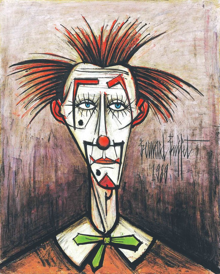 Clown Oil Paintings   Some Bernard Buffet paintings were exhibited in the transdisciplinary ...