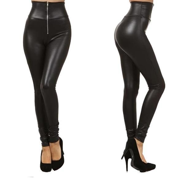 Skinny Pants Zipper Sexy Jeggings