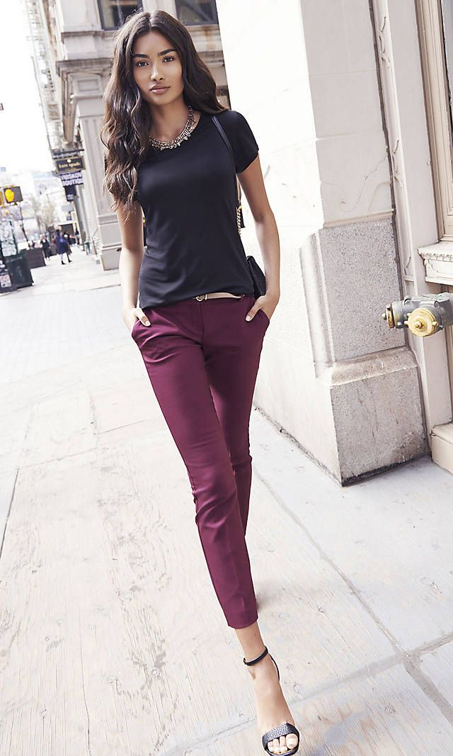 light grey dress pants outfit women