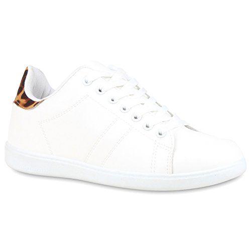 DAMEN SCHUHE 109719 SNEAKERS WEISS LEOPARD 40 - http://on-line-kaufen.de/stiefelparadies/40-eu-sportliche-damen-sneakers-low-turnschuhe-4