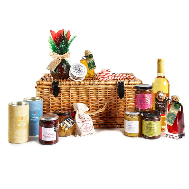 A deluxe Christmas Hamper from English Heritage, featuring a hand-picked selection of our best-loved products.