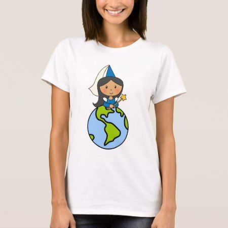 Cartoon Clip Art Cute Princess on Top of the World - click to get yours right now!