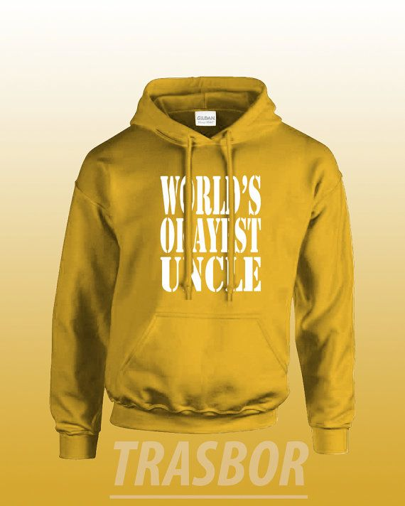 World's Okayest Uncle Hoodie Unisex by Trasbor on Etsy