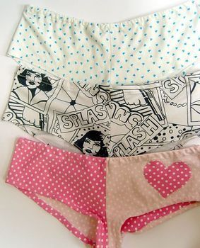 DIY Panties :3  http://www.cutoutandkeep.net/projects/make-your-own-cute-knickers