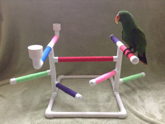 ULTIMATE PARROT table top play GYM stand w/ by TheBirdPerchPalace, $45.00