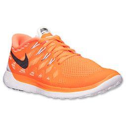 Men's Nike Free 5.0 2014 Running Shoes| FinishLine.com | Total Orange/Black/Atomic Mango/Metallic