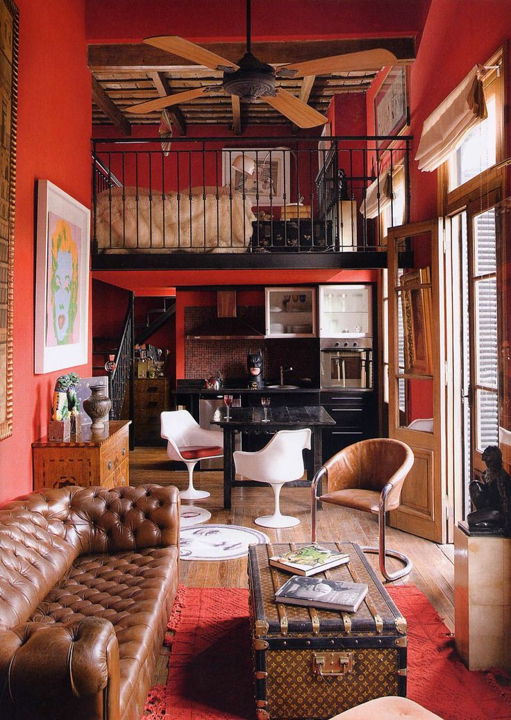 64 best color stories red images on pinterest color - Decoracion vintage de interiores ...
