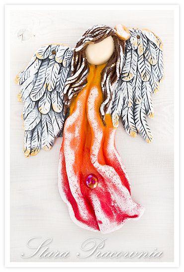 aniołek z masy solnej, aniołki z masy solnej, masa solna, salt dough angels, salt dough, figurki z masy solnej, ozdoby z masy solnej www.masa-solna.pl www.starapracownia.blogspot.com