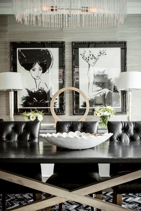 Inspiring Interiors Layers Of Grey Tufted Dining ChairsBlack