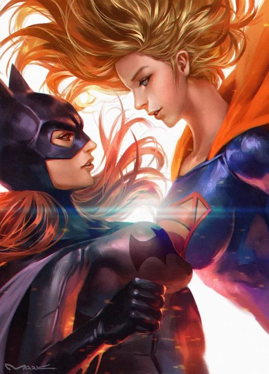 DC Batgirl versus supergirl. For similar content follow me @jpsunshine10041