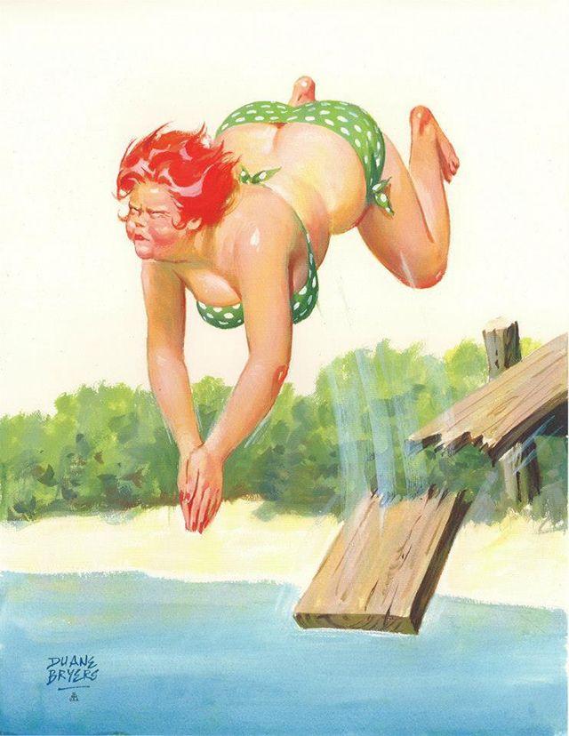 Толстушки картинки с юмором, утро женщине открытка