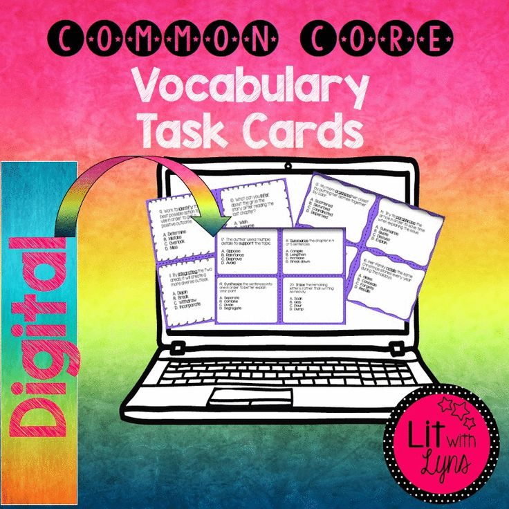 Looking for ways to teach frequently used Common Core vocabulary?  Check out these digital task cards!