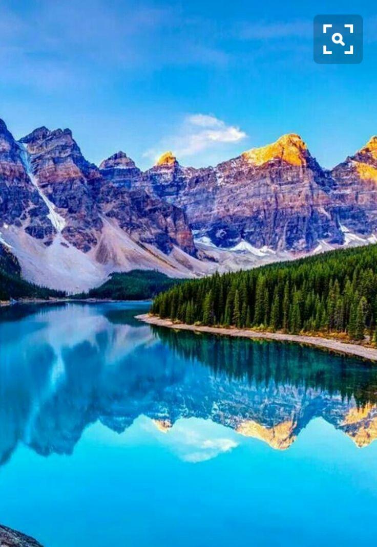 Lago Moraine Canadá también llamado el lago de los diez picos