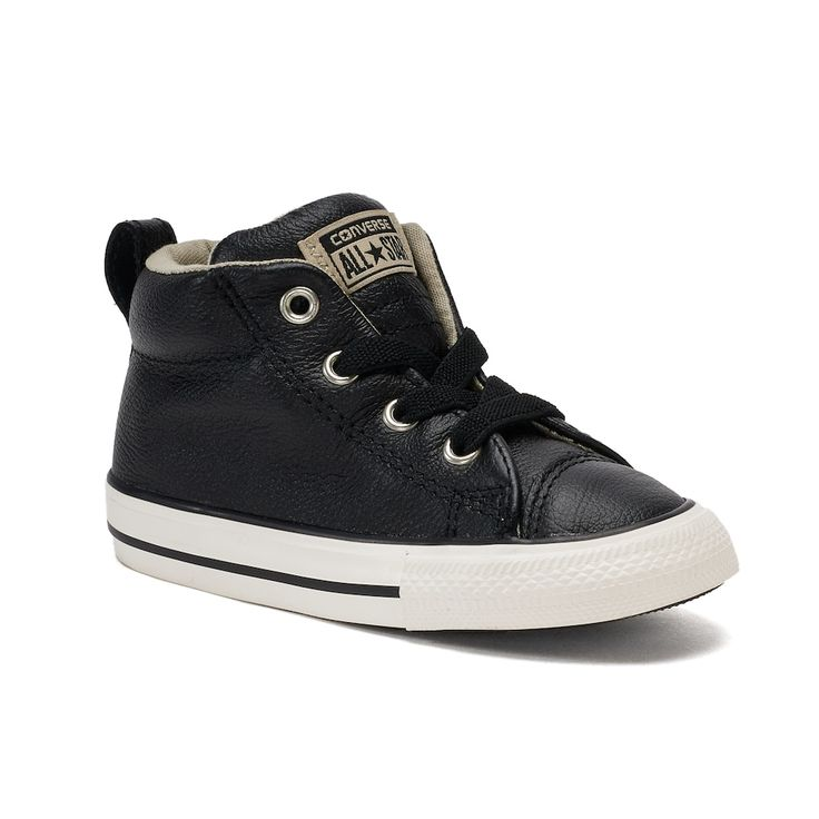 Toddler Boys' Converse Chuck Taylor All Star Street Mid Sneakers, Size: 10 T, Black