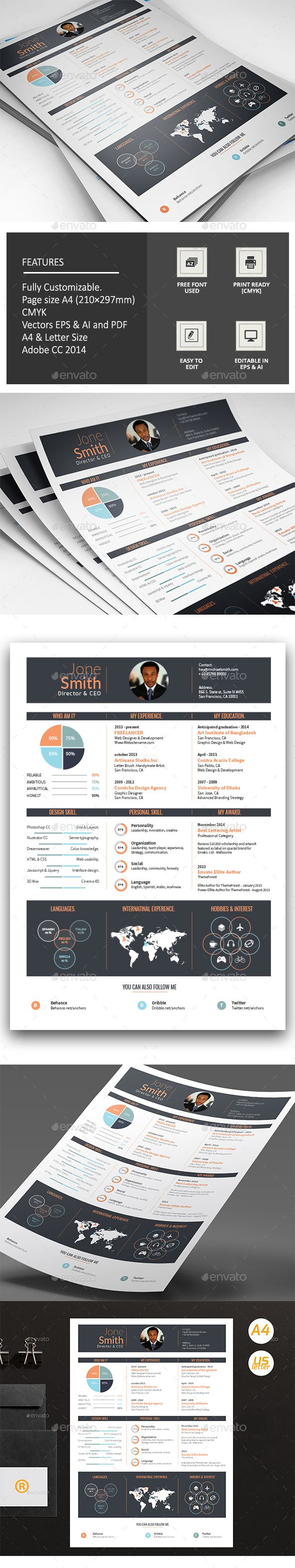 The 25+ best Infographic resume ideas on Pinterest | What is a cv ...