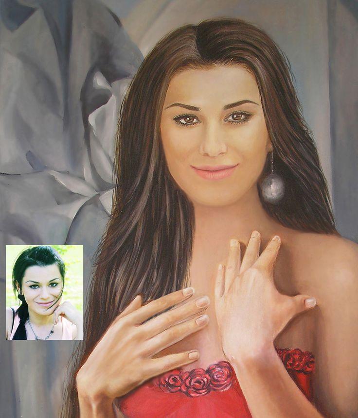 Malarstwo portretowe, obraz olejny, Natalia