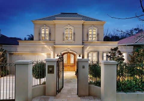 Classical french provincial style home in bayside for Classic home designs australia