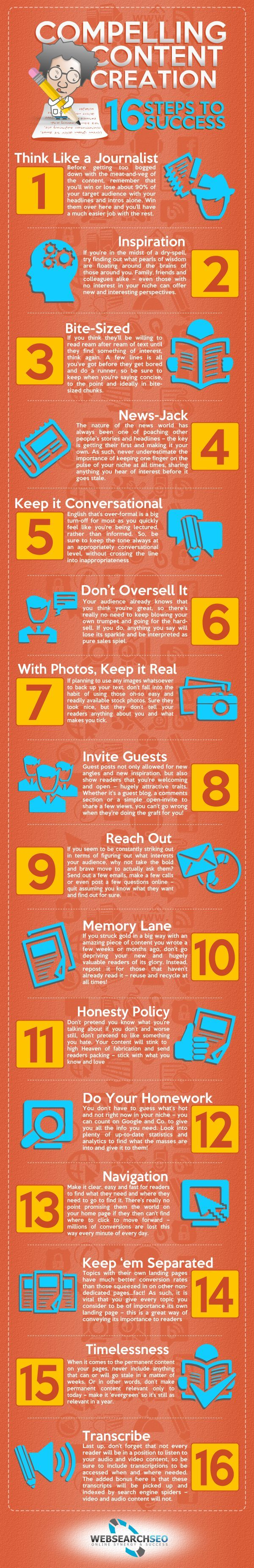 16 steps to successful content marketing. #content#marketing Visit : www.sourcepep.com/80-20-blog/