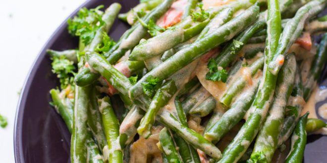 Köstliche Low Carb Bohnen mit cremiger Sauce