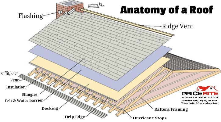 Roof Picture Showing The Anatomy Of A Roof Roofing