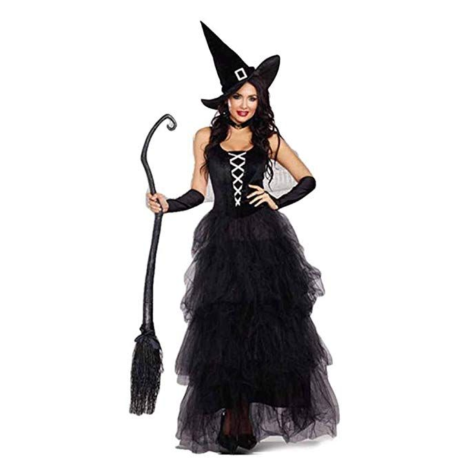 19d4b01a247 Neilyoshop Women's Witch Costumes Halloween Black Wicked Witch Adult ...