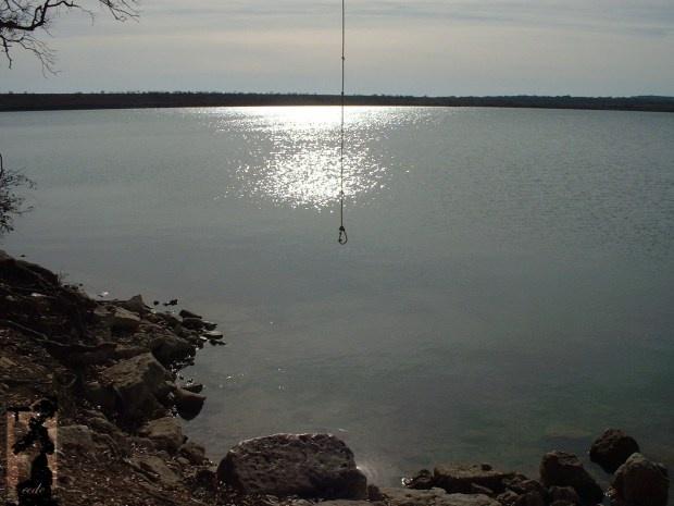 Boerne Lake. Really beautiful lake. Enjoying the scenery and the swimming.